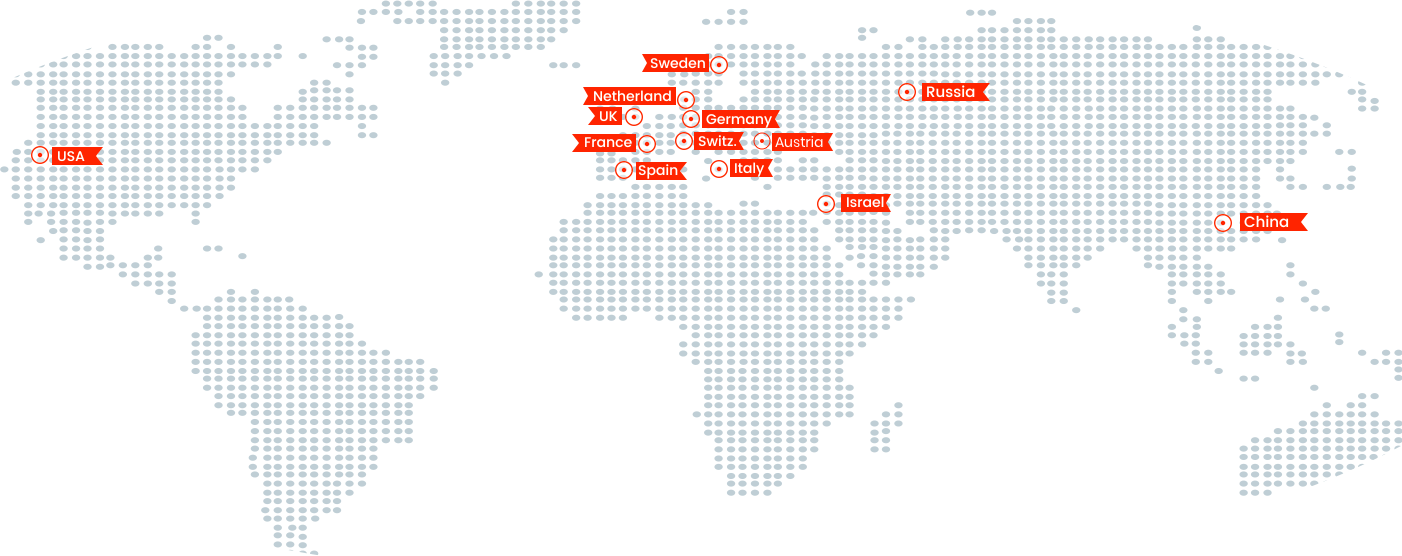 Fineline global offices map
