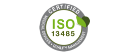 Certified ISO 13485 Medical Devices Quality Managment logo